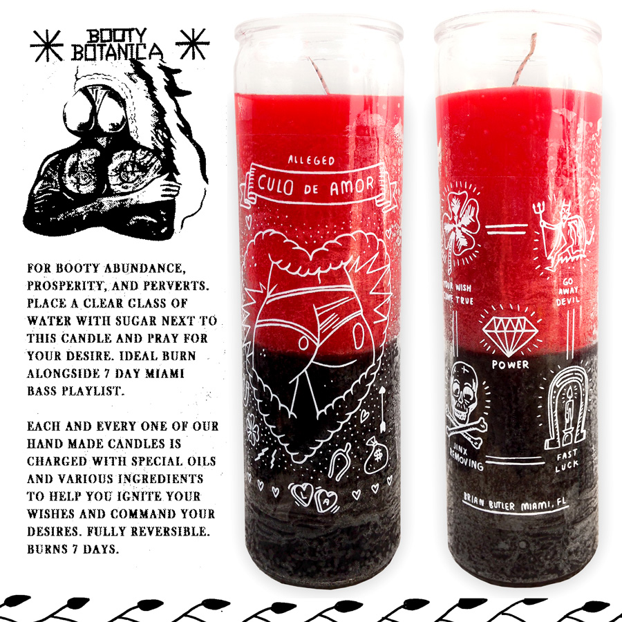 Reversible Candle Prayer - Image Antique and Candle