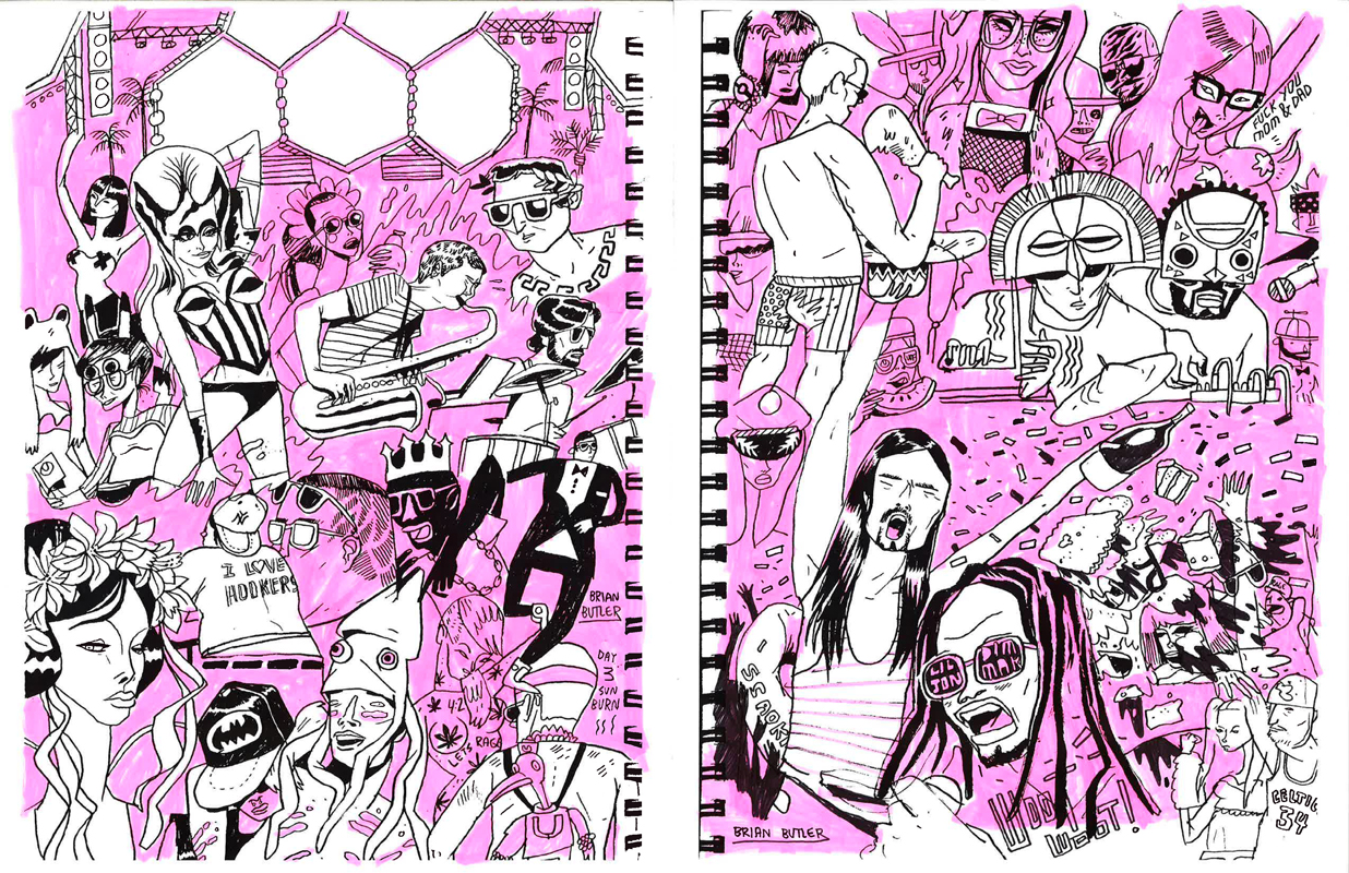 Festival Drawings Ultra Music Festival Rolls